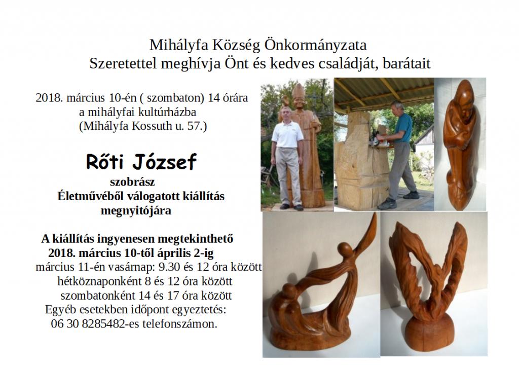Rőti József kiállítása